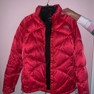 NORTHFACE red/pink puffer down jacket